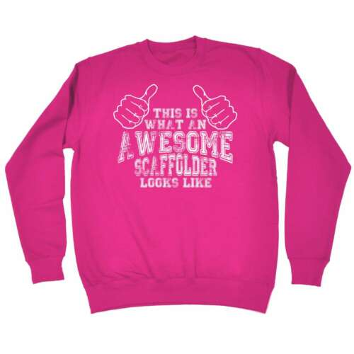 This Is What Awesome Scaffolder Looks Like Funny SWEATSHIRT