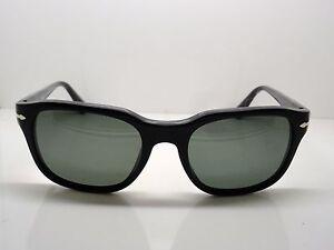 72da77b86eb New Authentic PERSOL 3112-S 95 58 Black Polarized Sunglasses 53mm
