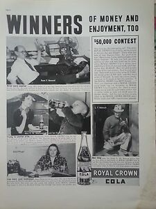 1938-Royal-Crown-RC-Cola-Soda-50-000-Contest-Winners-Original-Ad