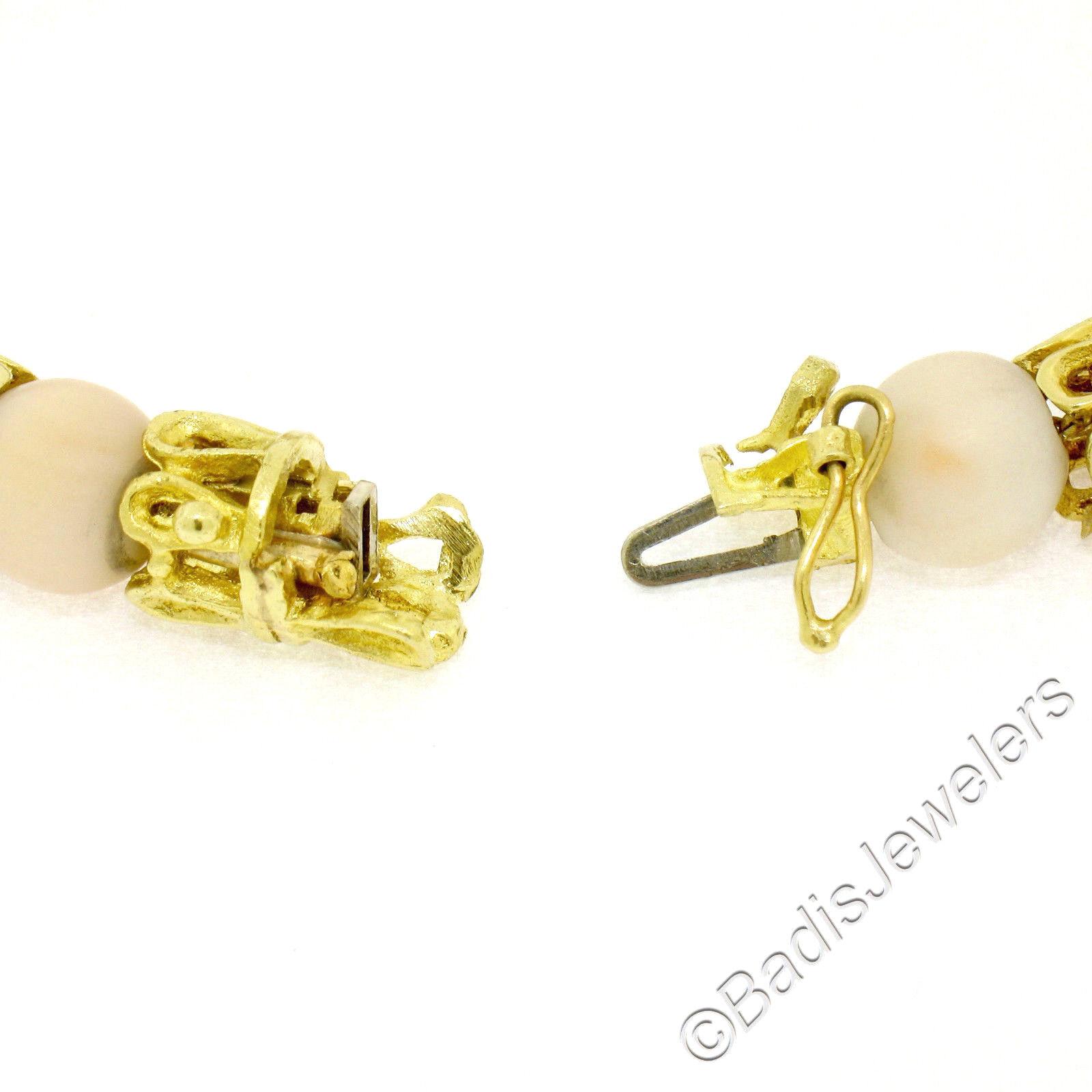 Vintage 18k 18k 18k a Torchon oro Giallo Gancetto di Collegamento Bracciale W  17bee9