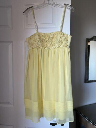 50/'s Pale Yellow Chiffon Cup Cake Dress          VG73