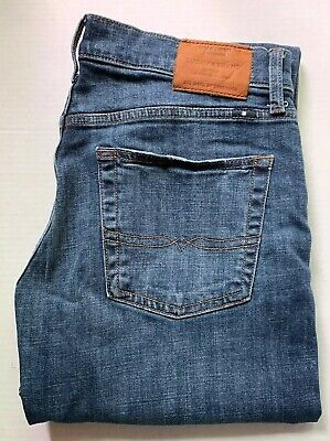 32 X 32 Lucky Brand 221 Original Straight Men's Dark Blue Jeans 32x32