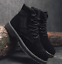 thumbnail 9 - Mens Fashion Riding Boots High Top Lace Up Round Toes Solid Autumn Ankle Booties