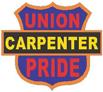 UNION CC-13 HARD HAT STICKER SCAFFOLOGIST CARPENTER CARPENTER STICKERS
