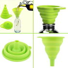 New Mini Silicone Gel Foldable Collapsible Style Funnel Hopper Kitchen Tool UF