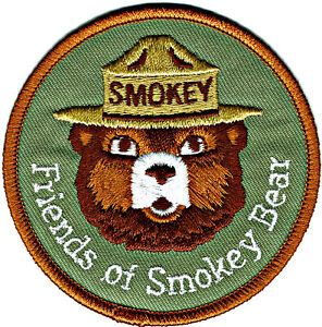Official-FRIENDS-OF-SMOKEY-BEAR-Embroidered-US-Forest-Service-Patch-NEW-aa