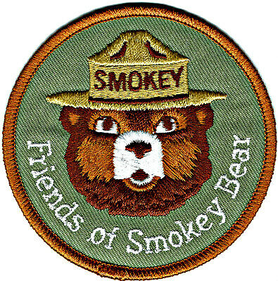 Lot of 2 Smokey Bear Sign Shovel Prevent Forest Fires Safety Patches Patch Lot