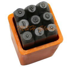 "9 PC 1/16"" 1.5mm Metal Marking Punch Symbols Stamp Set Jewelry Tool"