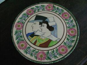 Juste Hb Quimper Odetta Plat Rond Décor Art Déco Vers 1930