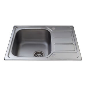 Cda stainless steel kitchen single bowl sink with mini drainer image is loading cda stainless steel kitchen single bowl sink with ccuart Choice Image