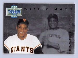 Details About 1993 Willie Mays Upper Deck Then Now Hologram Baseball Card Tn18 Giants