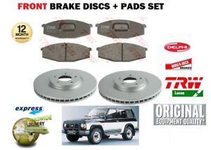 Pour-Nissan-Patrol-2-8-3-3D-1982-1990-Avant-Disque-de-frein-Set-Disc-Pads-Set