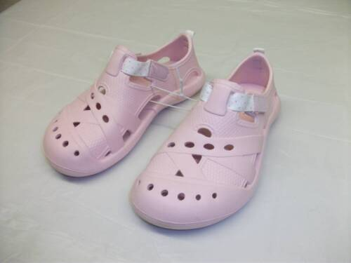 NEW Girls Water Shoes Pink Clogs Sandals Size 11-12 Kids Summer Slip On Pool