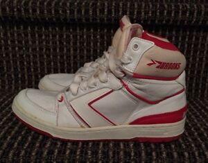 905ab239a02 Vintage 80s Brooks Basketball Dominator Comp Dominique Wilkins Ds 8 ...