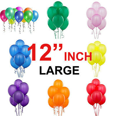 """10-100 12/"""" INCH Latex Top Quality MIX STAR PRINTED Party Multi Colour Balloons"""