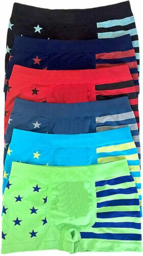 6 Packs Boy/'s Seamless Boxer Briefs Underwear Panty Tight