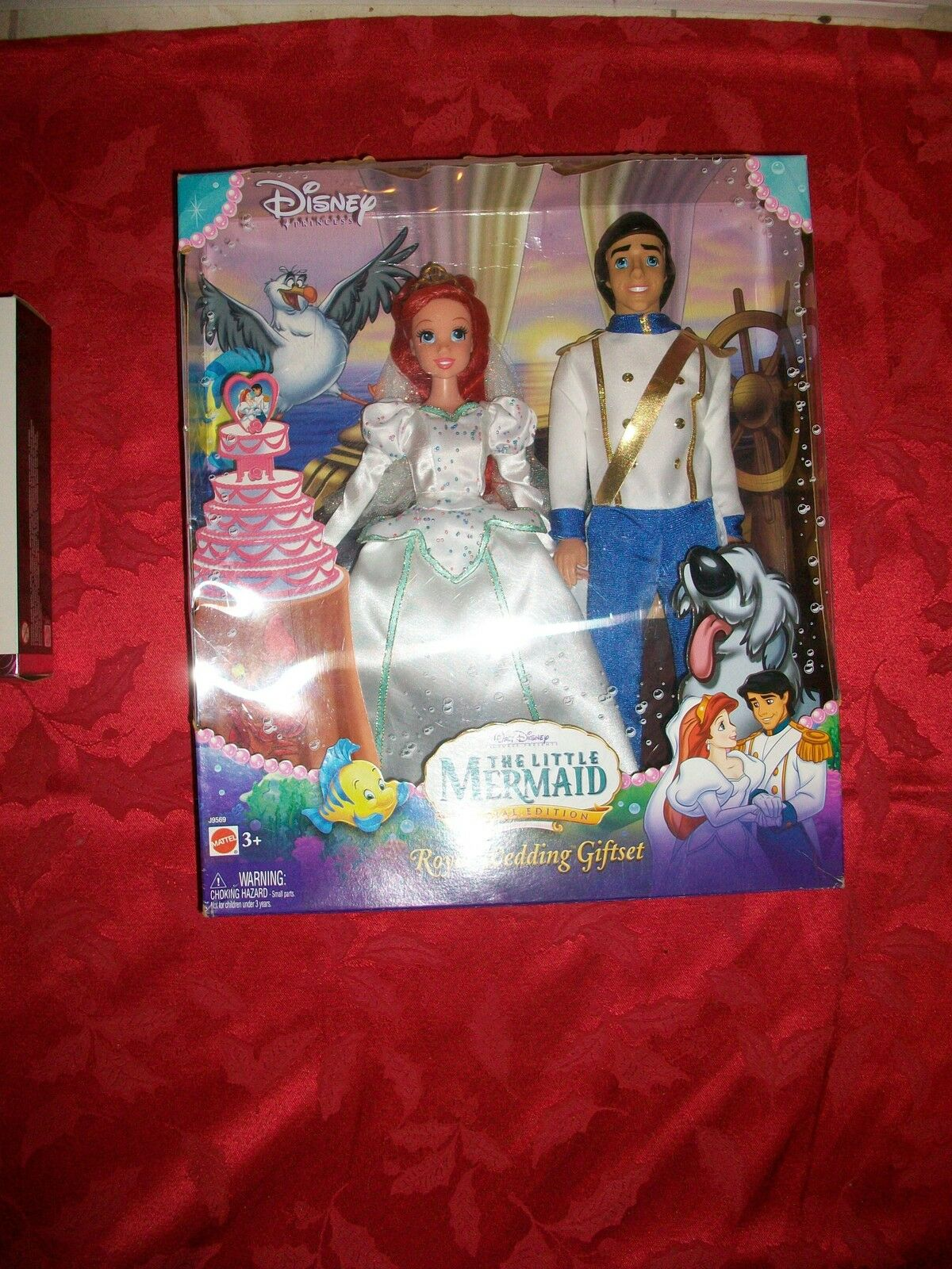 2006 Pequeña Sirena Boda Real Giftset Eric & Ariel Muñeca