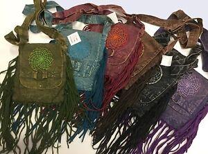 New-Cotton-Hippie-Boho-Festival-Dream-Catcher-Fringe-Canvas-Bag-4-colours-Nepal