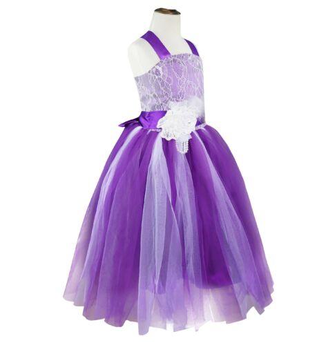 Flower Girls Princess Dress Kid Party Wedding Pageant Birthday Formal Tutu Dress