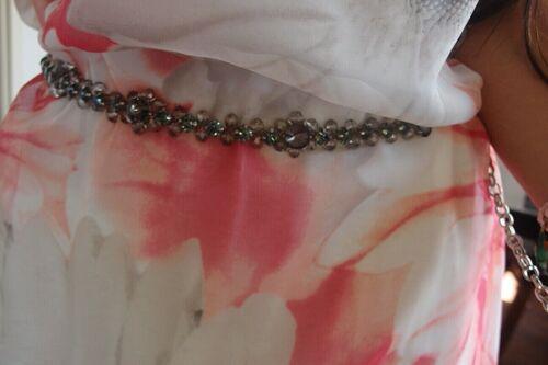 Silber Metall Gürtel Neu XS S M L Damen Blumen Blogger Trend Boho Musthave Chic
