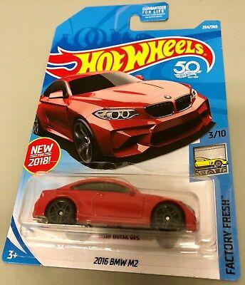 2016 BMW M2 #254 Int/'l ✰RED;gray pr5✰factory fresh✰2018 i Hot Wheels WW case L//M