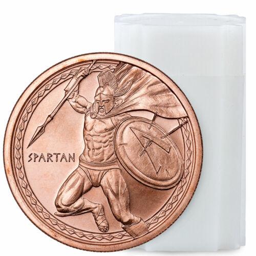 Roll of 20 Golden State Mint Spartan 1 oz Copper Round BU SKU57512