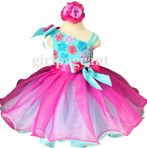 Infant//toddler//baby Pageant//formal  Dress EB2008FL with hairbow