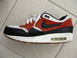 b1a40b47b8 NIKE AIR MAX 1 ESSENTIAL WHITE-BLACK-GAMMA ORANGE SZ 9.5 [537383-122 ...
