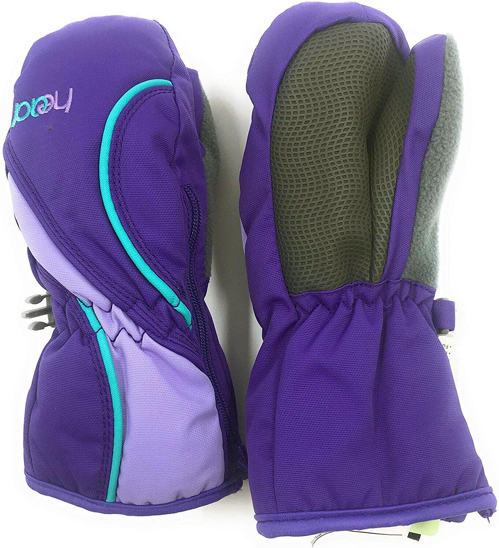HEAD Jr Sweet Purple Vistula Blue Girls Insulated Ski Mittens Winter Gloves NWT