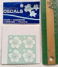 """Hawaiian Car Window Vinyl Stickers Decal 4 Small 1"""" Hibiscus Hawaii island N"""