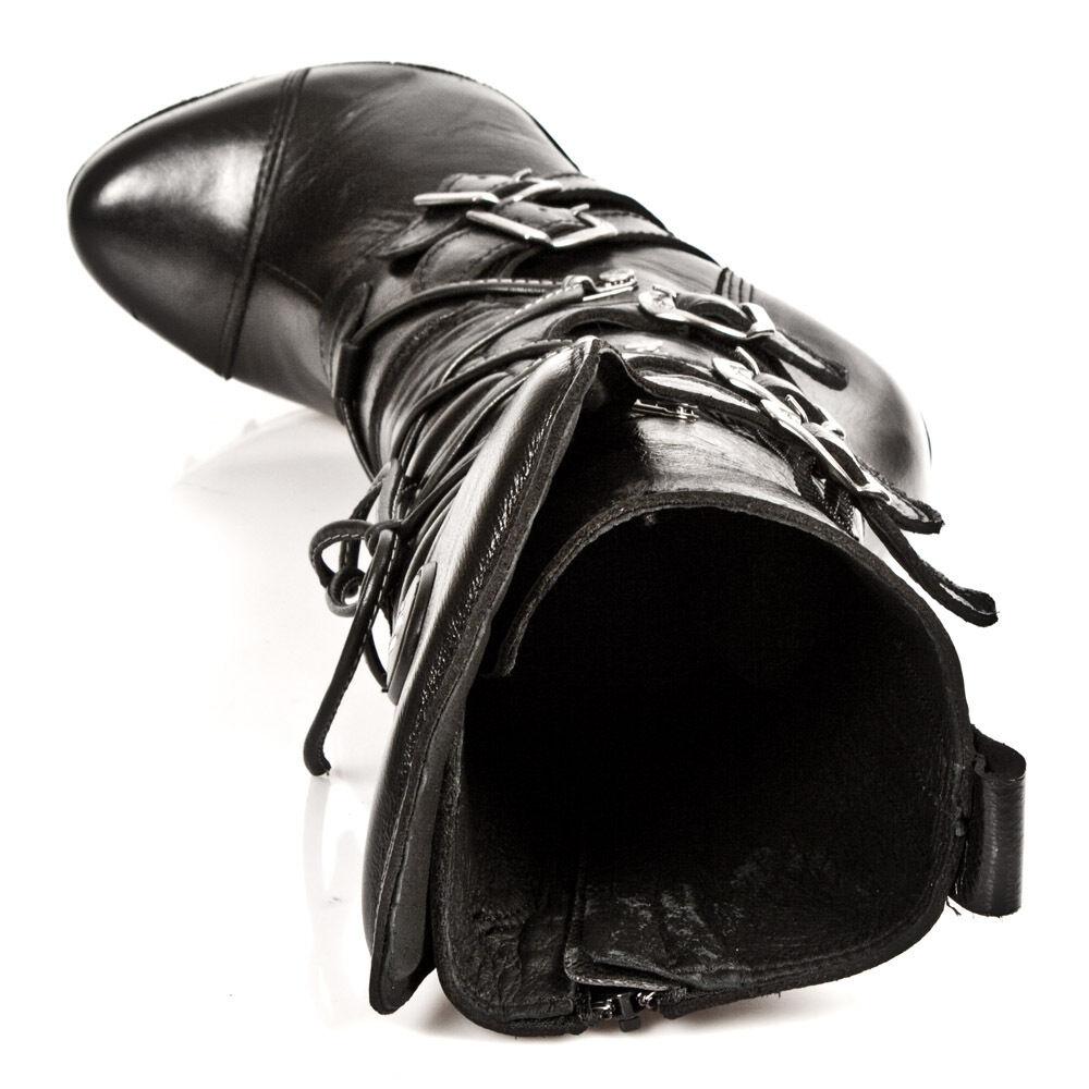 NEU Rock Damen Leder Stylisch Leder Damen Stiefel M.PUNK001-C1 a8ab8d
