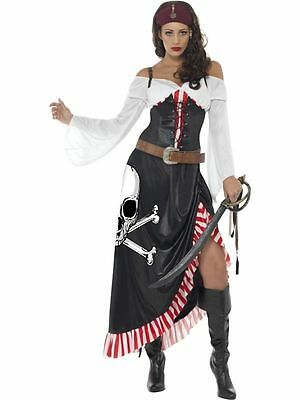 Womens Sultry Swashbuckler Costume Movie Fancy Dress Party Sexy Pirate Outfit