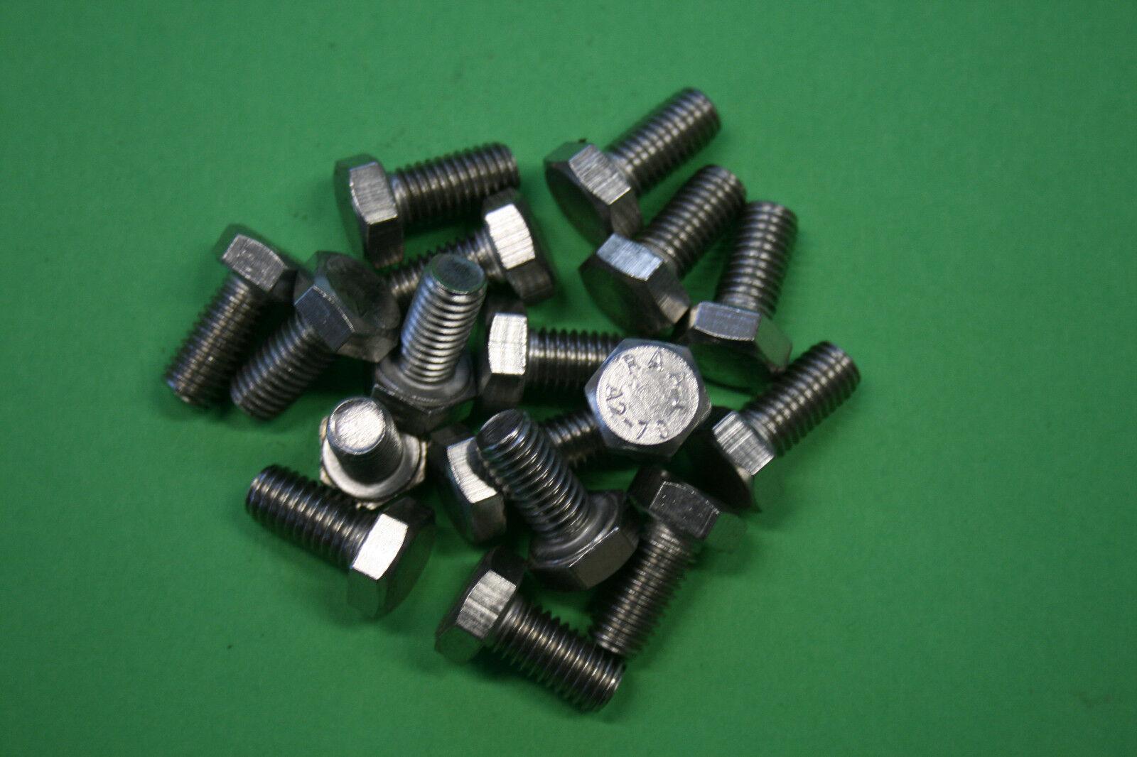 Gewindeschraube, Sechkantschraube, M4 ,10-70mm, DIN 933 ,Edelstahl A2 V2A
