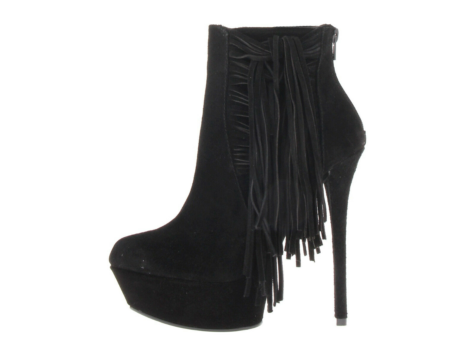 NEW STEVE MADDEN 169 BLACK SUEDE LEATHER ARAURA BOOTS Schuhe SZ 8