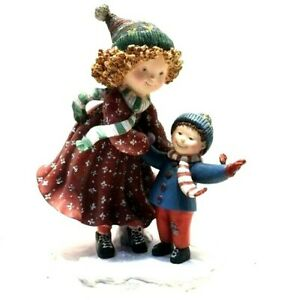 Vtg-Lang-amp-Wise-Christmas-Special-Friends-Abbey-and-Sam-Figurine-1998-Snow