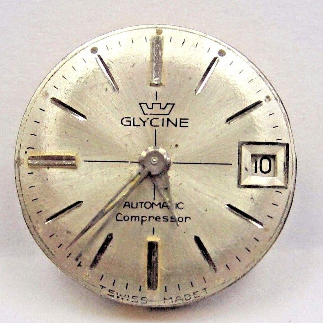 Antique Lds Glycine Date  Auto 17 Jewels watch movement 13 mm.