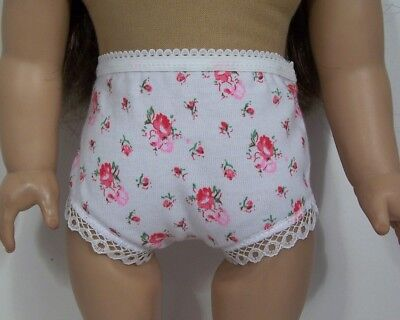 """Yellow Print Panty Underwear with Lace Trim for 18/"""" American Girl Doll Clothes"""