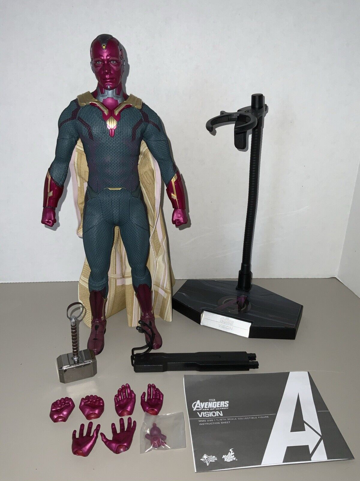 Hot Toys 1/6 Vision MMS296 Avengers Age Of Ultron LOOSE Wandavision on eBay thumbnail