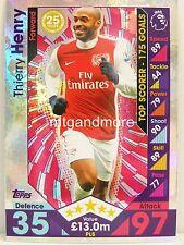 Match Attax 2016/17 Premier League -  PL5 Thierry Henry - Player Legends
