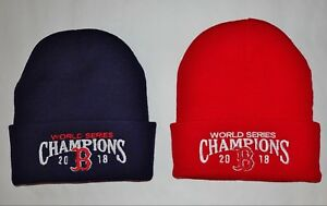 5c64891c844c1 Boston Red Sox 2018 World Series Champions Winter KNIT HATS (2 Pack ...