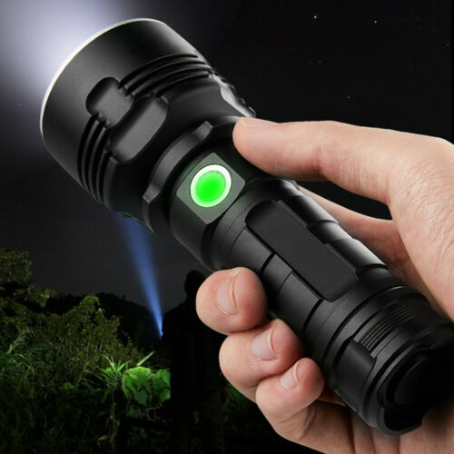 Ultra Bright XHP90 LED USB Rechargeable High Powerful Torch Flashlight 8000LM UK