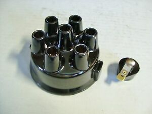1936-50-Oldsmobile-6-Black-Distributor-Cap-amp-Rotor-Set-Copper-Contacts-824735