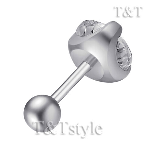 BE34 TT Surgical Steel Round Fake Ear Cartilage Tragus Body Size 3mm-9mm
