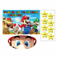 Super Mario Bros Gaming Birthday Poster 8 Player Party Game Set
