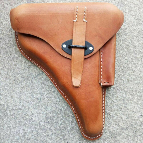 WWII GERMAN LEATHER WALTER P38 HARDSHELL HOLSTER BROWN MILITARY CLASSICAL REPRO