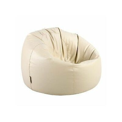 NEW Leather Bean Bag | Beige (Regular)