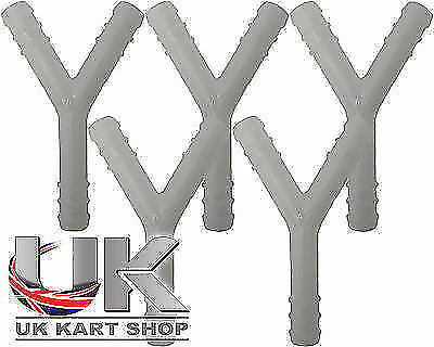 "Fuel Pipe Plastic /""Y/"" Piece Splitter x 5 UK KART STORE"