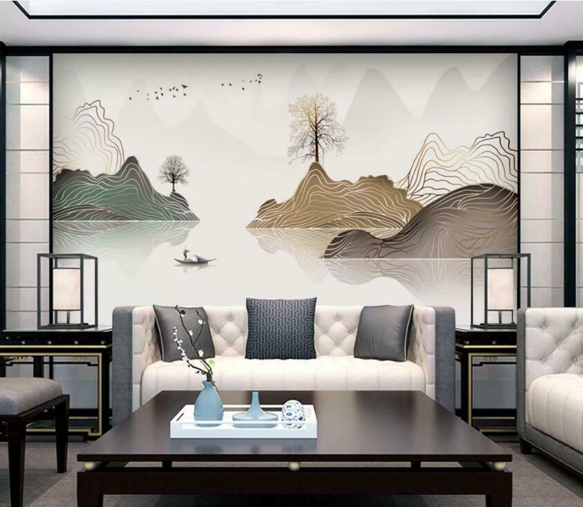 3D Art Mountain N3025 Wallpaper Wall Mural Removable Self-adhesive Sticker Amy