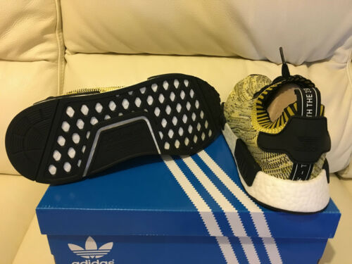 Uk 5 Adidas Runner Nmd Primeknit Yellow Size New R1 5 Black Pk xv87x6Hqw