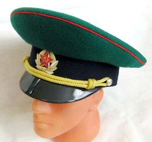 3dcabfb92 Details about Original Russian Border Service Officer Visor Hat Cap USSR  Badge 61cm XL 2003